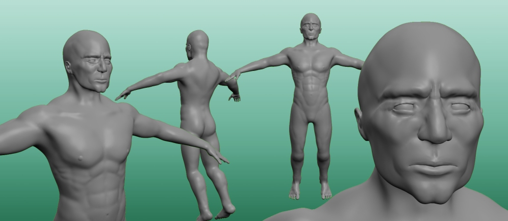 Night Raven's base sculpt. Made using Sculptris.